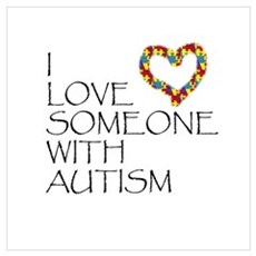 Autism Love Heart Poster