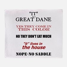 Great Dane Walking Answers Throw Blanket