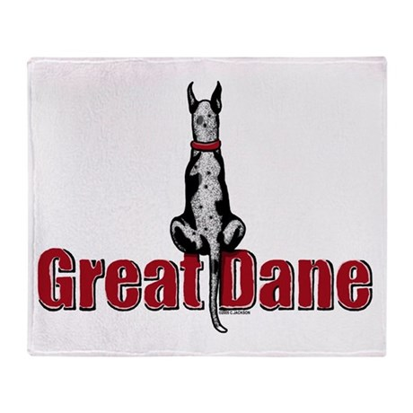 Merle Great Dane Fence Sitter Throw Blanket