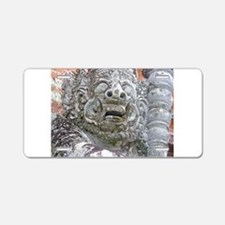 Balinese Temple Guardian Aluminum License Plate
