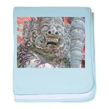 Balinese Temple Guardian baby blanket