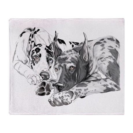 Great Dane Inseparable Throw Blanket
