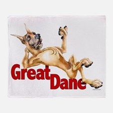 Great Dane Fawn LB Throw Blanket