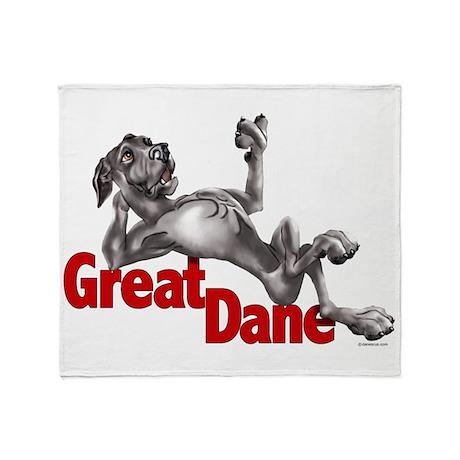 Black Great Dane LBUC Throw Blanket
