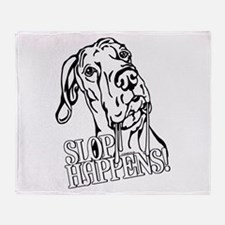 Slop Happens UC B&W Throw Blanket