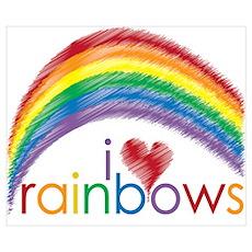 I Love Rainbows Poster