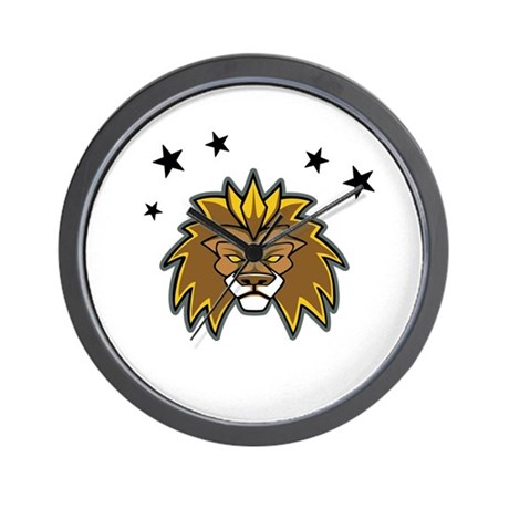 Lion with Stars Wall Clock