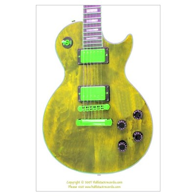 """UV Light"" Guitar Poster"