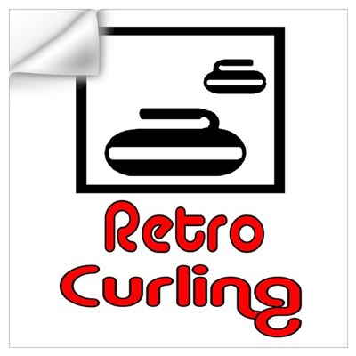 Retro Curling Wall Decal