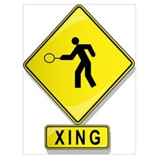 Tennis Player XING Framed Print