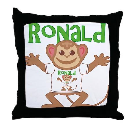 Little Monkey Ronald Throw Pillow