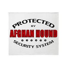 Afghan Hound Security Throw Blanket