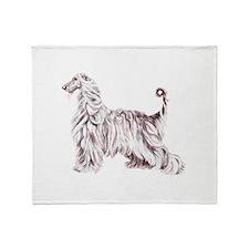 Afghan Hound Elegance Throw Blanket