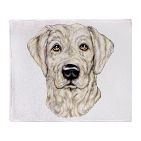 Yellow Lab Bust Throw Blanket