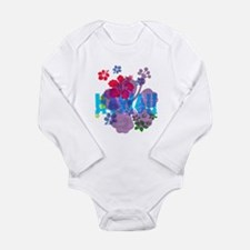 Hawaii Hibiscus Long Sleeve Infant Bodysuit