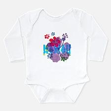 Hawaii Hibiscus Long Sleeve Infant Bodysuit