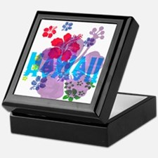 Hawaii Hibiscus Keepsake Box