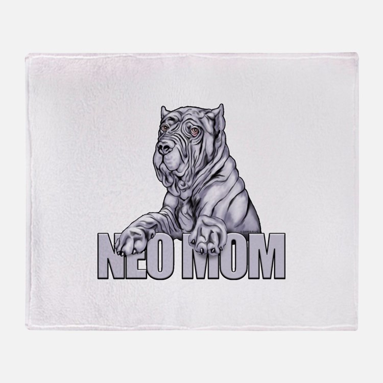 Neo Mom Blue Throw Blanket