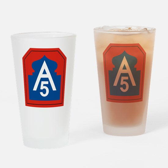 Cute Fifth army Drinking Glass
