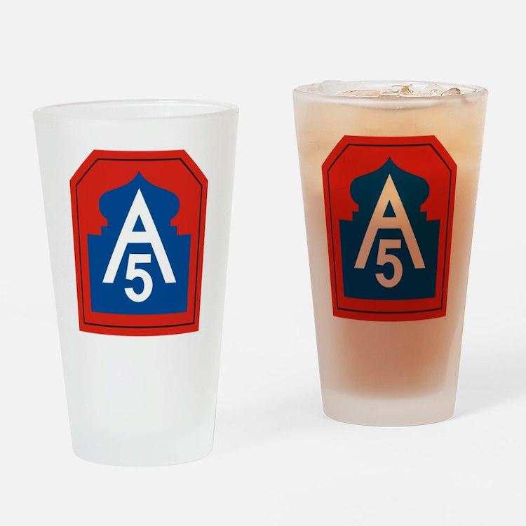 Cute 5th army Drinking Glass