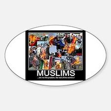 Muslims Sticker (Oval)