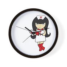 Cute Sexy nurse Wall Clock