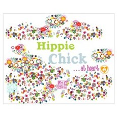 Hippie Chick at Heart Poster