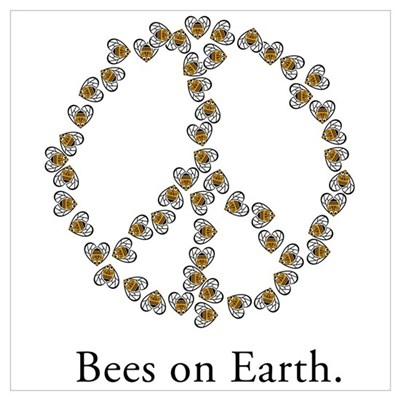 Bees on Earth (Peace) Poster
