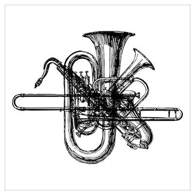Brass & Sax Poster
