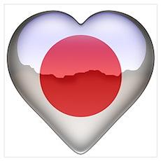 Japan Heart Poster