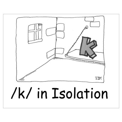 K in isolation Canvas Art