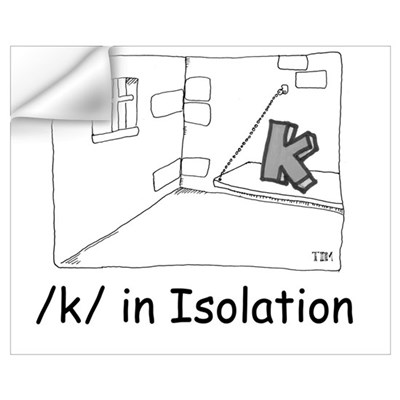 K in isolation Wall Decal