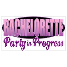 Bachelorette Party in Progress Poster