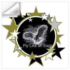 Fly Like an Eagle with Stars Wall Decal