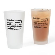 Pointless Shirt Drinking Glass