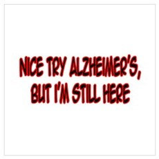 """Nice Try Alzheimer's..."" Canvas Art"