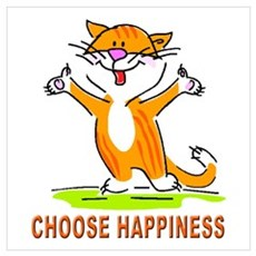 CHOOSE HAPPINESS CAT Poster