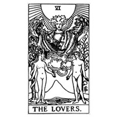 The Lovers Tarot Card Poster