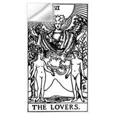 The Lovers Tarot Card Wall Decal
