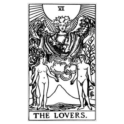 The Lovers Tarot Card Canvas Art