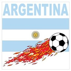 Argentina world cup soccer Canvas Art