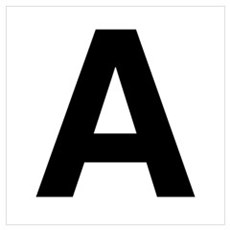 A Helvetica Alphabet Canvas Art