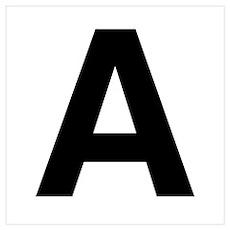 A Helvetica Alphabet Poster