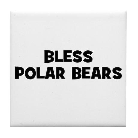 Bless Polar Bears Tile Coaster