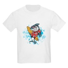 Surfing Shark with Splashes T-Shirt
