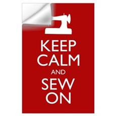 Keep Calm and Sew On Wall Decal
