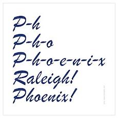 Raleigh Phoenix Cheer Poster