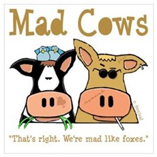 Mad Cows Framed Print