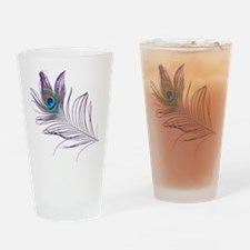 PEACOCK FEATHER Drinking Glass