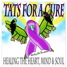 Butterfly Tattoo Guns for Tats for a Cure Large Po Poster